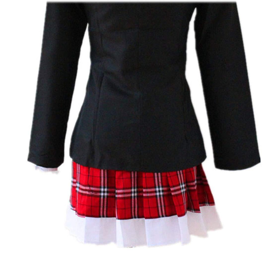 ZY Chaqueta Negra Falda De Encaje Roja Y Blanca Vestido De ...
