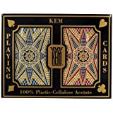 KEM 10-3469 Kem Bridge Size Casino Club Stargazer Setup Playing Cards (Maroon/Blue)