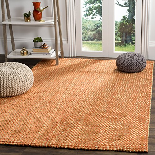 - Safavieh Natural Fiber Collection NF262B Rust and Natural Area Rug, 6' x 9'