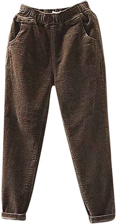 Vectry Pantalones Moda Mujer Tallas Grandes De Pana Cintura Elastica Bolsillo Pantalones Haren Pantalones Largos Leggings Pantalones Casuales Pantalones Para Correr Amazon Es Ropa Y Accesorios