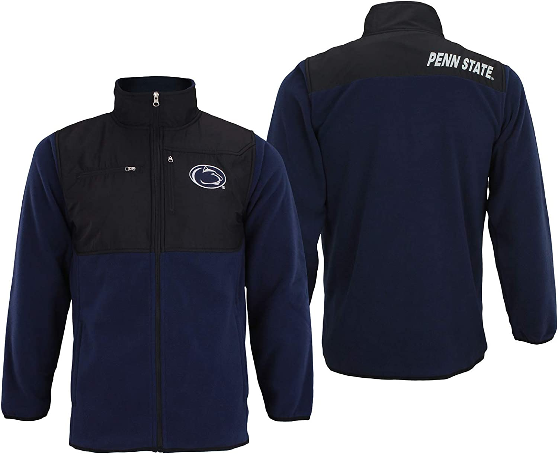 Outerstuff NCAA Mens Penn State Nittany Lions Tech Polar Fleece Full Zip Jacket