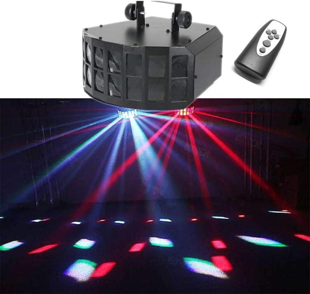 パーティーライト7色のディスコフラッシュ照明サウンドKTVバーバースデーカラオケ・ダンスクリスマスのためのリモートコントロールでストロボ光プロジェクターを活性化 1/9