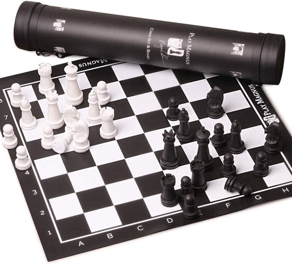 Ajedrez Juego de ajedrez viaje juego de ajedrez de cuero portable Junta de pl/ástico pieza de ajedrez Ajedrez Puzzle Partido de la Familia Internacional de Ajedrez Kid adultos ajedrez 51cm de ajedrez S