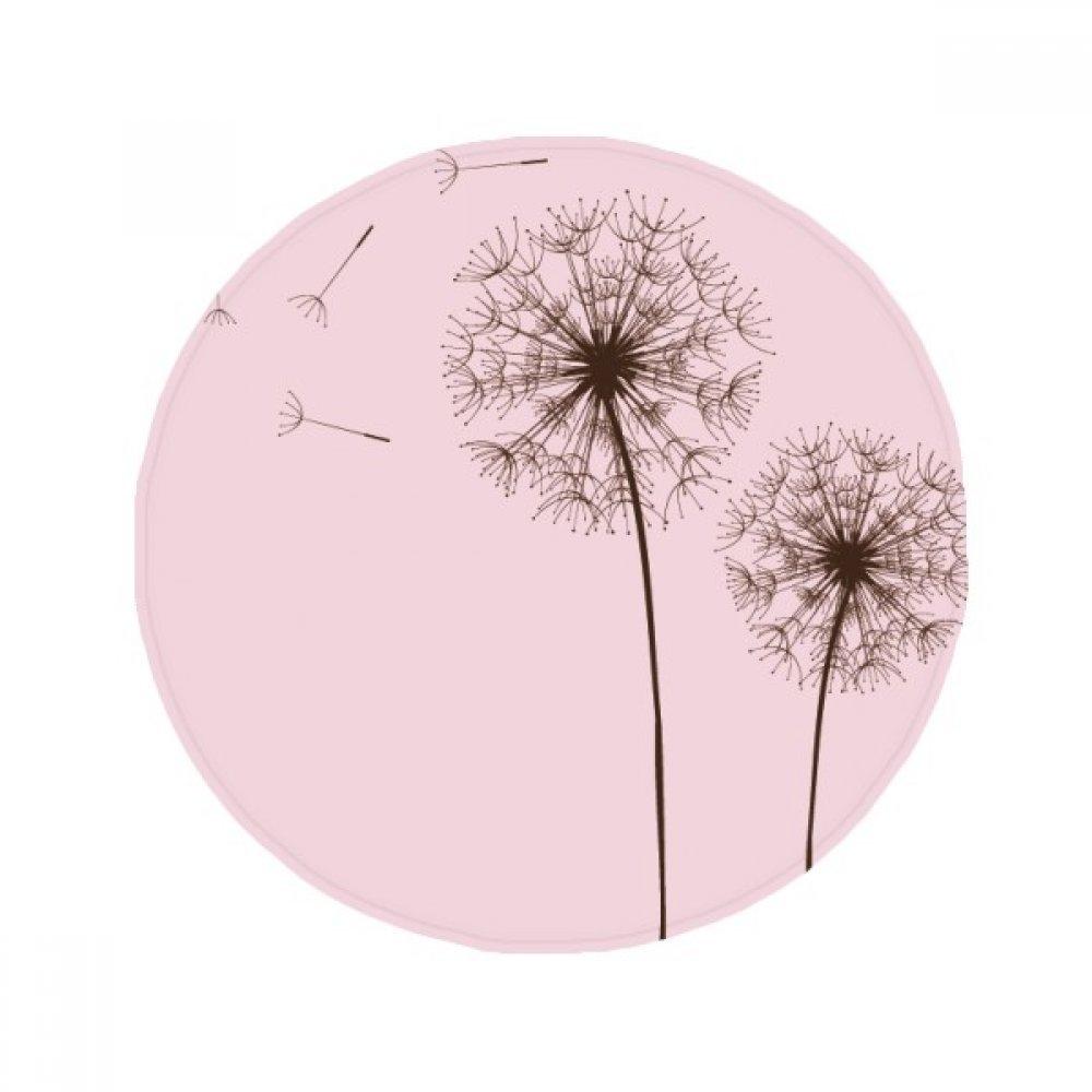 60X60cm DIYthinker Flower Plant Dandelion Seed Anti-Slip Floor Pet Mat Round Bathroom Living Room Kitchen Door 60 50Cm Gift