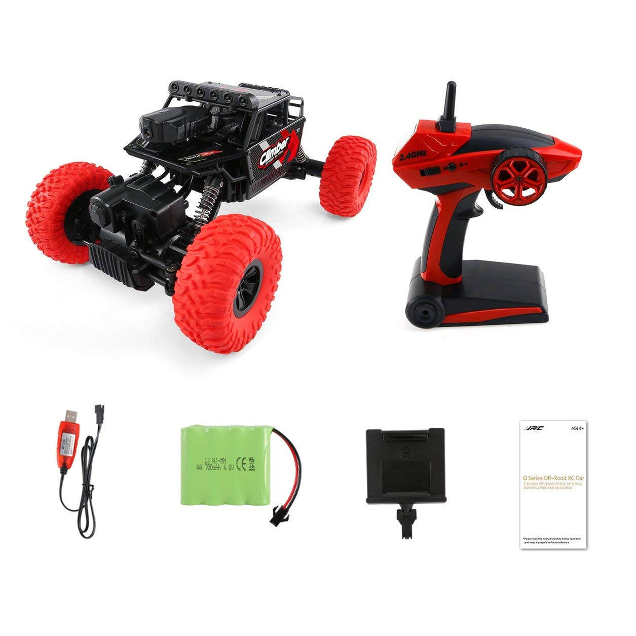 Dailyinshop Q45 RC-Rennwagen 4WD 2.4GHz Mini-Off-Road Fern Spielzeug mit WiFi FPV Kamera