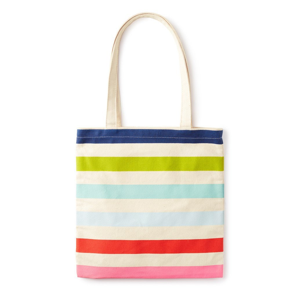 Kate Spade New York Canvas Book Tote with Interior Pocket,