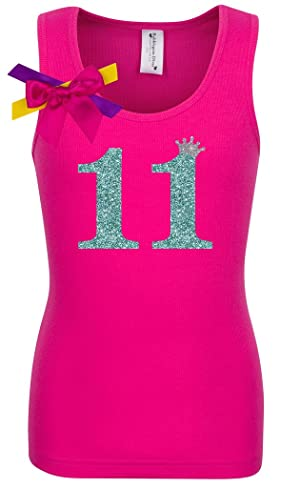 Bubblegum Divas Big Girls' 11th Birthday Hot Pink Princess Shirt