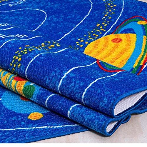 8x10 Kids Boys Children Toddler Playroom Rug Nursery Room Rug Bedroom Rug Fun Colorful ( Solar System ) by LA Rug Linens (Image #2)