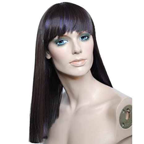 namecute Medio Recta Pelucas Kanekalon sintético peluca para mujer Neat Pony