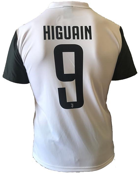Camiseta Jersey Futbol Juventus Gonzalo Higuain 9 Replica Autorizado 2017-2018 Niños Adultos
