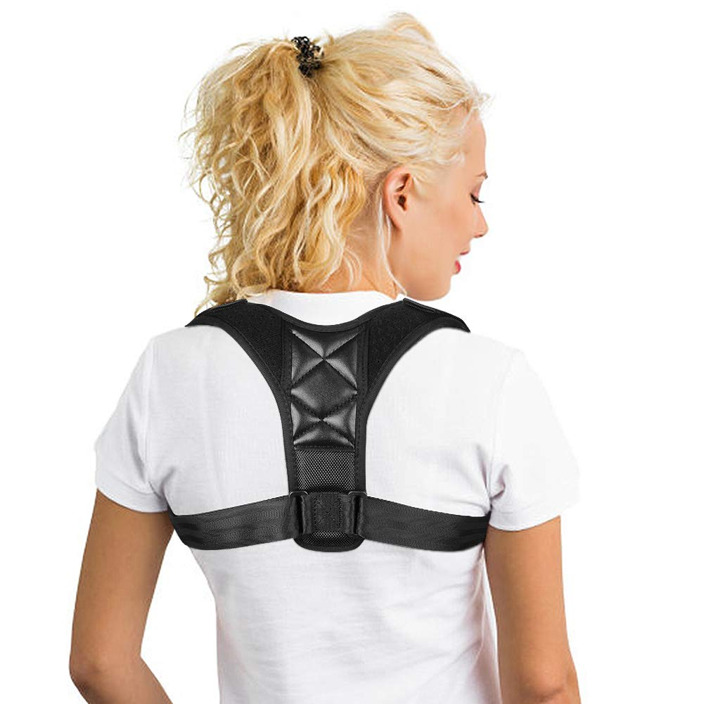 Back Brace Posture Corrector for Women & Men - iHeoco 2019 Newest Comfortable Upper Back Brace for Clavicle Support, Providing Pain Relief from Neck Back & Shoulder [Chest 22''-48'' ]