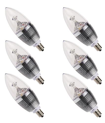 AUSKY 6-Pack 3W LED Candelabra Bulb, E12 Socket ,Daylight