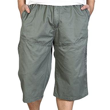 0b0d4dc8206 Heheja Homme Cargo Shorts avec Taille Élastique Pantalon Court Bermuda  Pantacourt Militaire  Amazon.fr  Vêtements et accessoires
