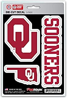 product image for NCAA Oklahoma Sooners Team Decal, 3-Pack