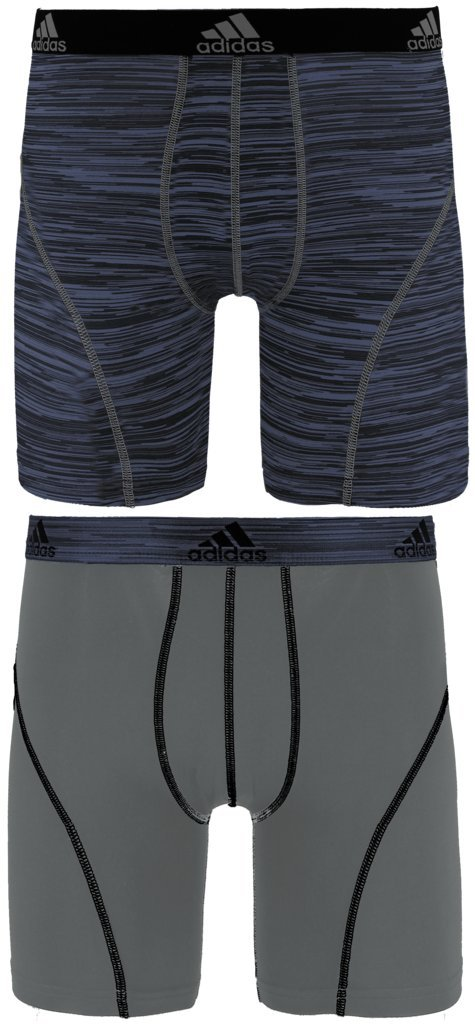 adidas Men's Sport Performance Midway Underwear (2-Pack), Black Looper Grey, X-LARGE by adidas