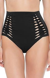 f2f2b6f71e Becca by Rebecca Virtue Women's Origami Solids High Waist Bikini Bottom