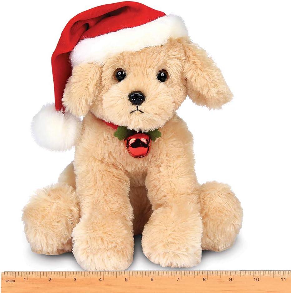 This Is Fine Dog Stuffed Animal, Amazon Com Bearington Santa S Lil Buddy Musical Animated Holiday Stuffed Animal Toy Dog 13 Inches Toys Games