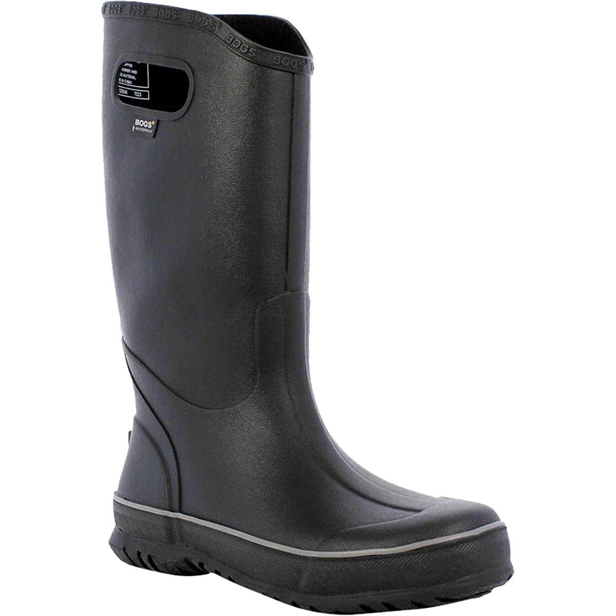 Bogs Men's Waterproof Rubber Rain Boot, Black, 12 D(M) US