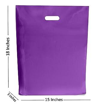 50 GRANDES LILA Bolsas de plástico ~ boutique regalo tienda ...