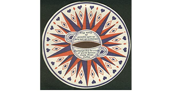 Amazon.com: Sans Souci Free Cup of Costa Rican Coffee Caretta Wheel folder San Jose ca 1930s: Entertainment Collectibles