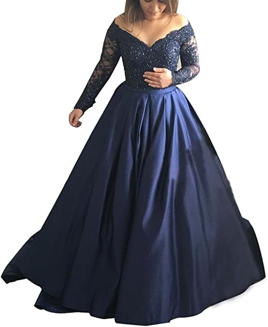 Ever-Pretty US Lace Sleeves Long Evening Prom Dresses Bodycon Wedding Ball Gown