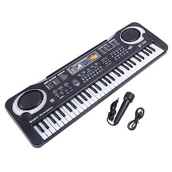 Foxom Piano Infantil, 61 Teclas Piano Electrico Teclados con Micrófono Piano Juguete Musical Regalo para Niños Infantil Principiantes: Amazon.es: Juguetes y ...