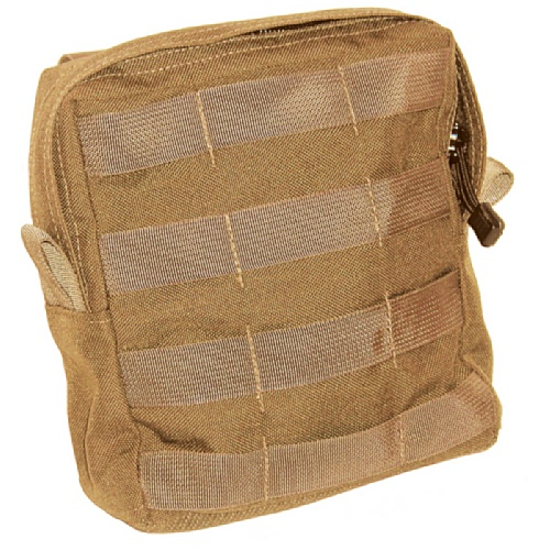 BLACKHAWK! S.T.R.I.K.E. Large, Utility Pouch with Zipper (Made in USA), Coyote Tan