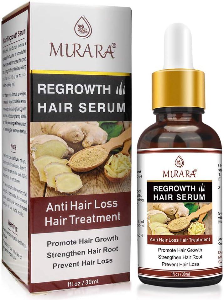 Suero para el crecimiento del cabello, suero anticaída 2020, estimula el crecimiento del cabello nuevo, promueve un cabello más grueso, más abundante y más rápido para mujeres, hombres 30 ml
