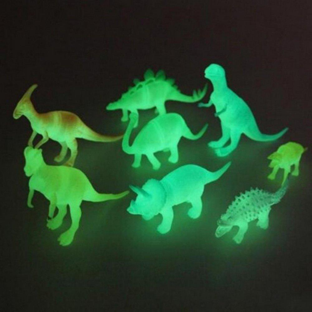PowerBH 8 Teile / Satz Nachtlicht Nachtleuchtende Dinosaurier Figur Geschenk Spielzeug Für Kinder Kinder Spielzeug & Hobbies