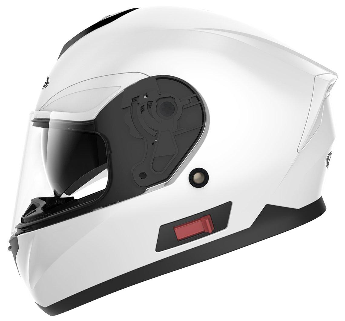 L YEMA Casco Integrale Moto Scooter ECE Omologato YM-831 Motorino Caschi Integrali Donna Uomo con Doppia Visiera Parasole Nero Opaco