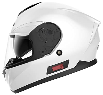 Motorcycle Full Face Helmet DOT Approved - YEMA YM-831 Motorbike Moped Street Bike Racing