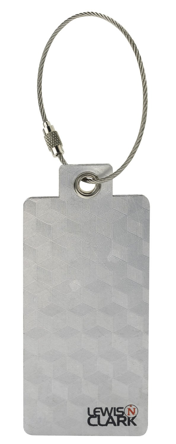 Lewis N. Clark Aluminum Tag, Silver, One Size ID09