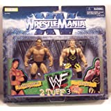 WWF THE ROCK AND OWEN HART 2 Tuff 3 Figures Jakks