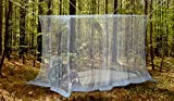 NATURO Outdoor Double Bed Mosquito Net Canopy with 2 Insect Repellent Bracelets, Hanging Kit, Bag and E-book