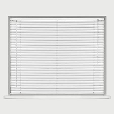 Easy Fit Venetian Window Blinds Home Office PVC White Black Cream Dove Grey Wood