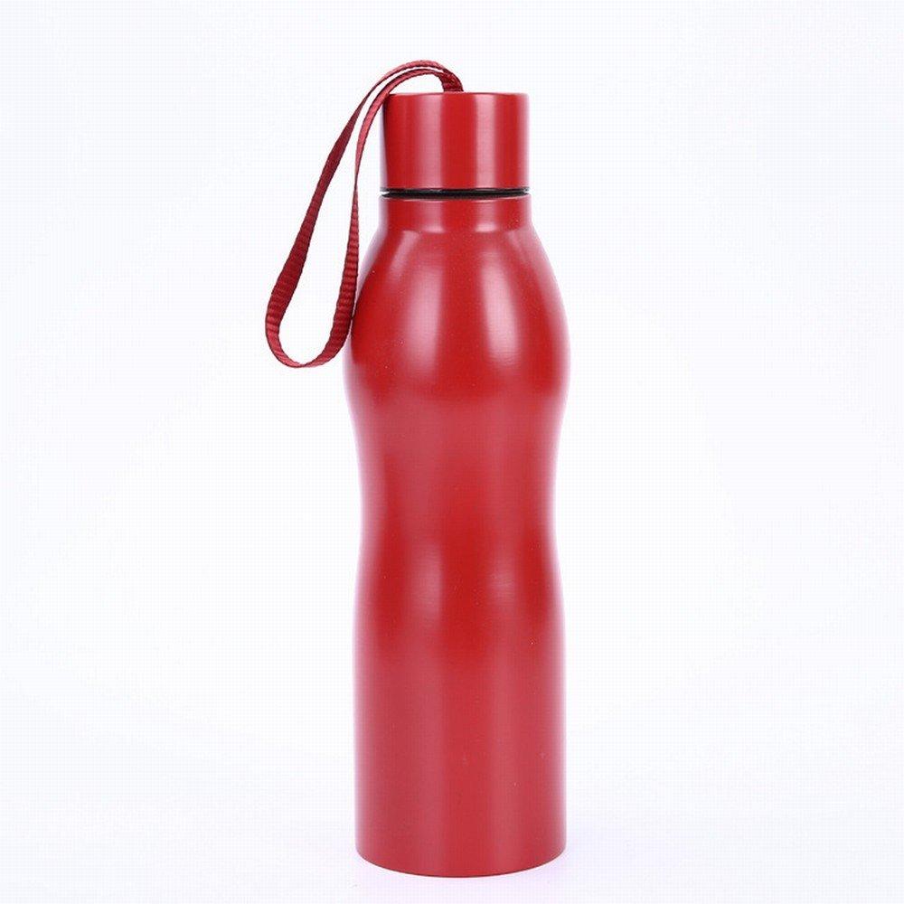 Isoliervakuumisolierte Topfportable im Freien Trägt Wasserflasche zur Schau,Rot