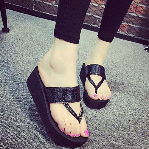 hanno pattini scivolose con I sandwiched sandali femminili high formato heeled i studenti estive dei 4 colori D sandwiched Colore adatta facoltativo facoltativi i pantofole C pantofole Pantofole wOtada