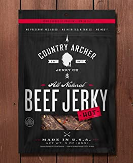 product image for Country Archer Beef Jerky, Red Pepper 3 Oz (Pack of 4)