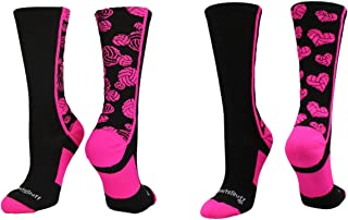 product image for MadSportsStuff Crazy Volleyball Logo Crew Socks (Multiple Colors)