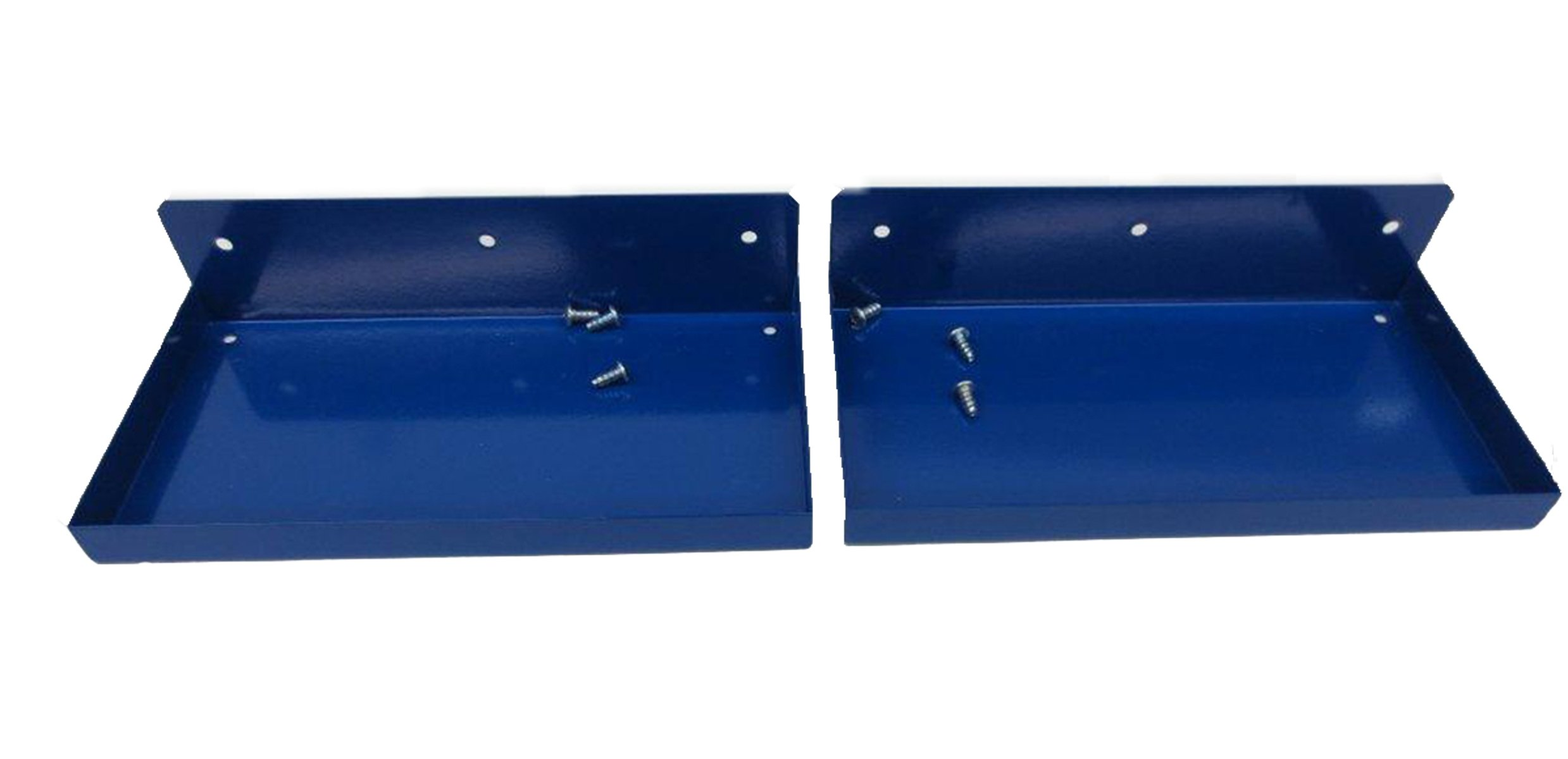Triton Products 76126-2 DuraHook 12 Inch W x 6 Inch Deep Blue Epoxy Coated Steel Shelf for DuraBoard or 1/8 Inch and 1/4 Inch Pegboard, 2-Pack