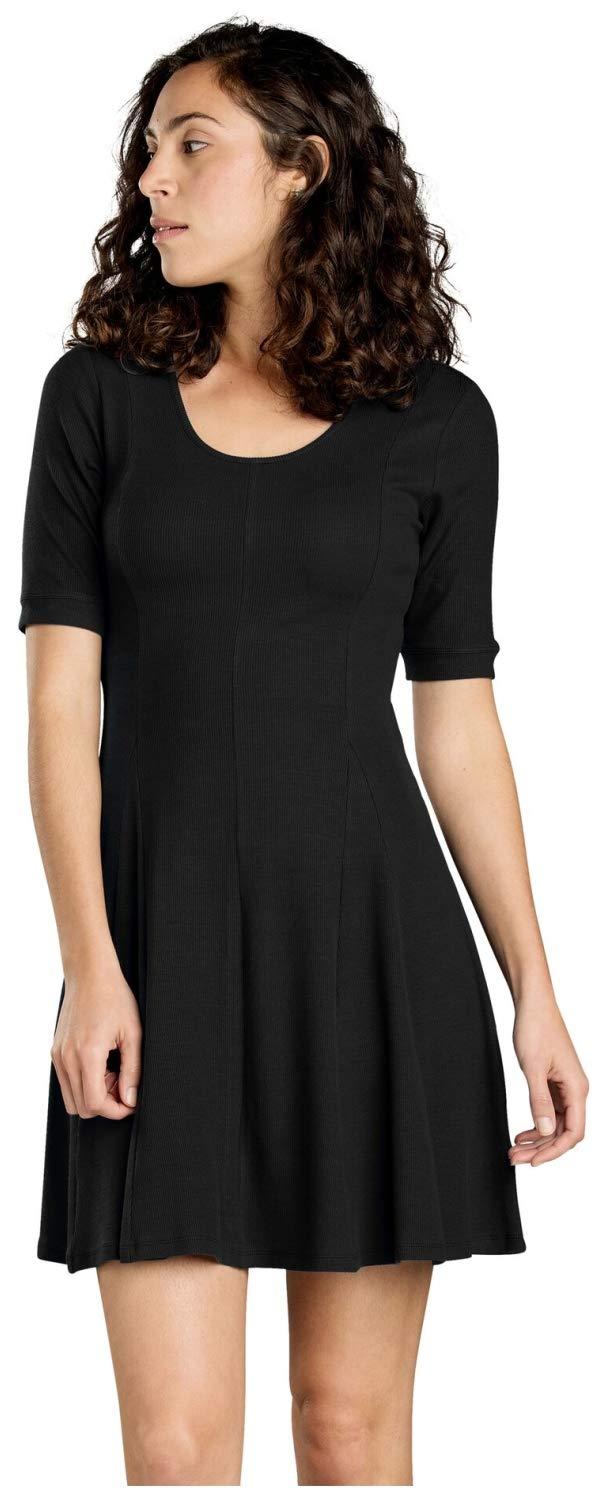 Black Toad&Co Daisy Rib Cafe SLV Dress  Women's