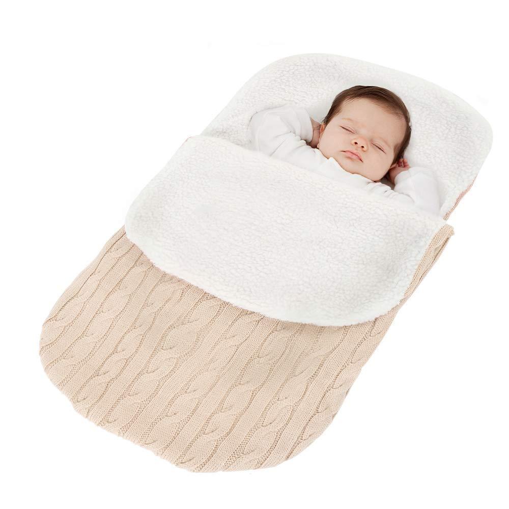 Tukistore Recién Nacido Bebé Tejido de Punto Envoltura Manta Saco de ...