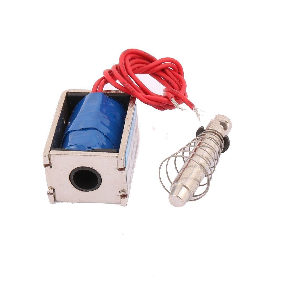 Amazon.com: eDealMax TAU-0837 DC 24V 19N Push Pull Tipo de bricolaje Marco abierto DC Solenoide imán Electroimán: Home & Kitchen