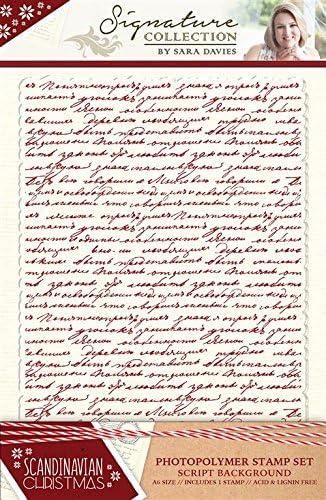 Sara Signature Collection skandinavischen Weihnachten – Stempel – Script Hintergrund, transparent