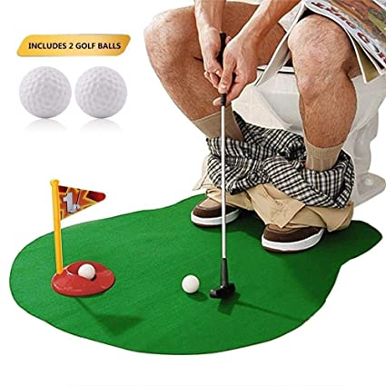 Amazon SAFAK Potty Putter Funny Toilet Golf Game