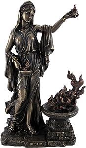 Veronese Design Greek Goddess Hestia Bronzed Statue Roman Vesta