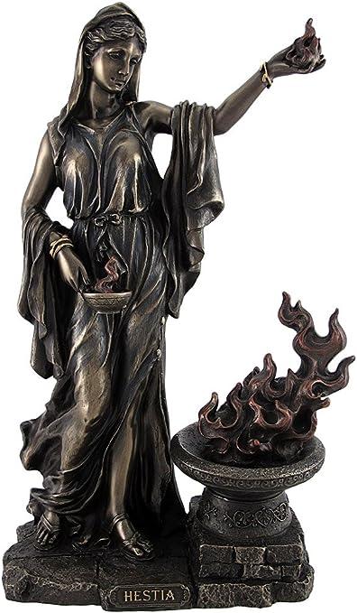 statuette représentant Vesta et son feu