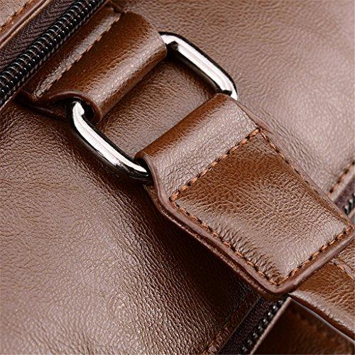 HUAYUN - Bolso de hombro Hombre marrón