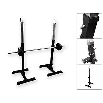 BodyRip Adjustable Barbell Stand Squat Power Rack: Amazon.co.uk ...