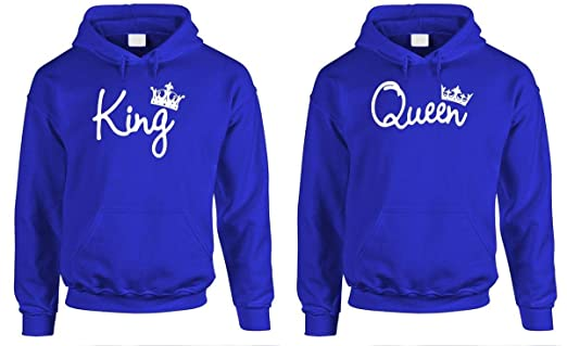7304483104 Amazon.com: King Queen - Couples Two Hoodie Combo Pack: Clothing